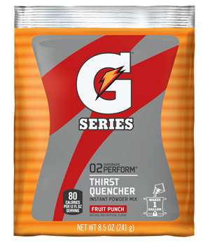 Gatorade Powder  Fruit Punch 1 Gallon Instant Powder - 8.5 oz Instant Gatorade Mix
