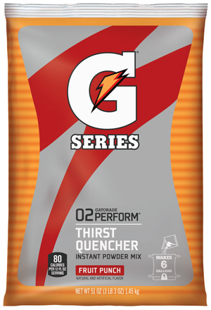 Gatorade Powder Fruit Punch 6 Gallon Powder - 51 oz Instant Gatorade Mix