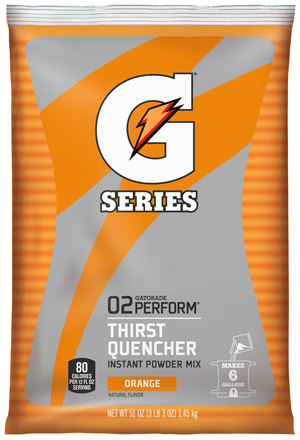 Gatorade Powder Orange 6 Gallon Powder - 51 oz Instant Gatorade Mix