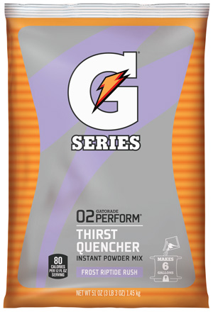 Gatorade Powder Riptide Rush 6 Gallon Powder - 51 oz Instant Gatorade Mix