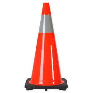 "36"" 10 LB. Wide Body Traffic Cone with One 6 Inch 3M® Reflective Collar"