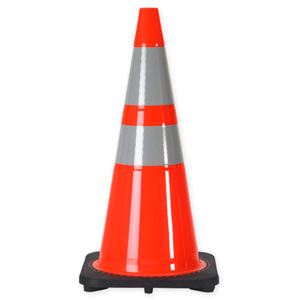"28"" 7 LB. Wide Body Traffic Cone with 6 & 4 Inch 3M® Reflective Collar"
