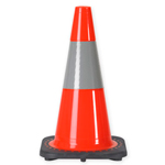 "18"" 3 LB. Traffic Cone With One 6 Inch 3M® Reflective Collar"