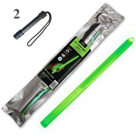 SnapLight Industrial Grade Chemical Light Sticks, Green, (Pack of 25/2 Handle)