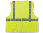 GLOWEAR CLASS 2 STANDARD VEST Lime w/inside pocket   Custom Logo Available