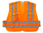 GLOWEAR EXPANDABLE PUBLIC SAFETY VEST Orange