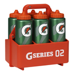 Gatorade Squeeze Bottle Carrier + 6 Bottles